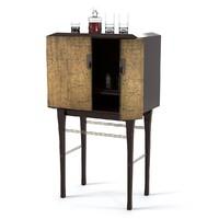 Baker Kiosk Butlers Cabinet 4070g