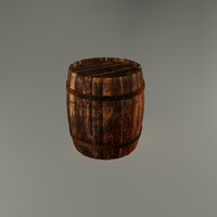 old wooden barrel 3d 3ds