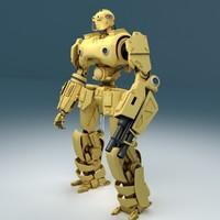 soldier robot23 3d max