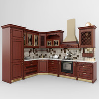 kitchen classic 01 3d model