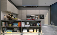kitchen interior scene 3d max