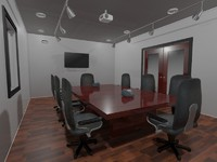 office scene 3d 3ds