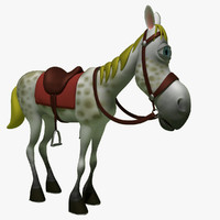3d funny cartoon horse model
