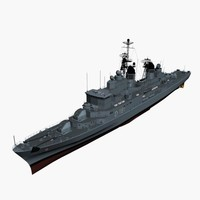 101a hamburg class destroyer 3d model