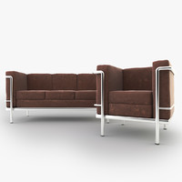 3ds max sofa lc2 chair