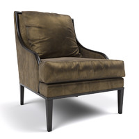 3d model aster chair century furniture