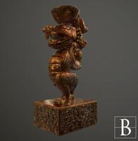 3dsmax oriental dragon statue