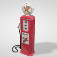 3d c4d old gas pump