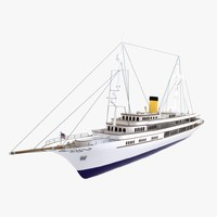 3ds max vintage style yacht