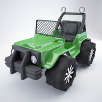 jeep toy car 3d model