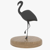 3d statue flamingo model