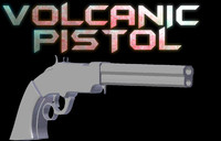volcanic pistol 1 weapon 3d model