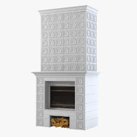 ceramic fireplace 3d model