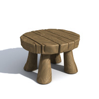 3d model cartoon table