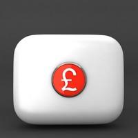 uk pound 3d max
