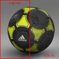 ball soccer black c4d