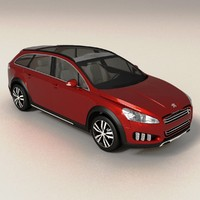 peugeot 508 rxh rigged 3d model