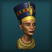 3d model of queen nefertiti
