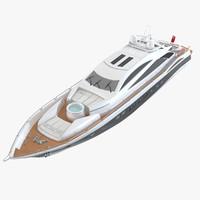 sunseeker predator sea yacht 3d max