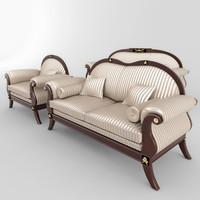 sofas armchair set 01 3ds