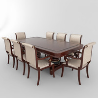 3d table chairs set 01 model
