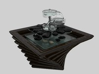 3ds max fountain garden interior