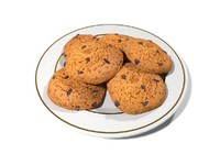 3d oatmeal cookies meal model