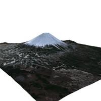 3d model of mount fuji landscape 20
