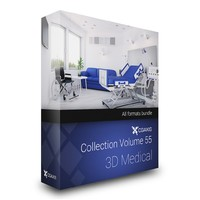 hospital 3d max
