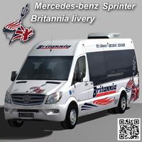 sprinter van britannia coach 3d max