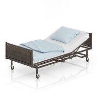 brown hospital bed max