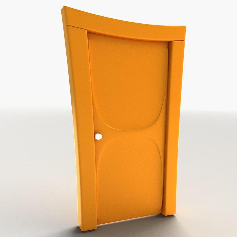 Cartoon door 3d model for Door 3d model