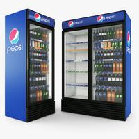 3d model pepsi fridges