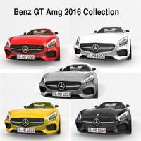 benz gt amg 2016 3d model