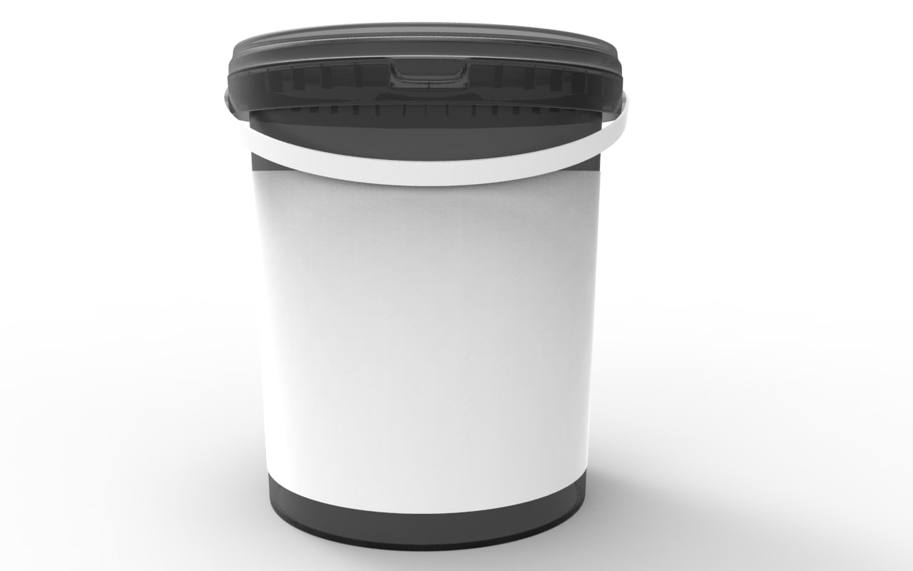 Bucket litre food 3d model for 3d cuisine bessines 79