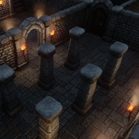dungeon building set 3d model