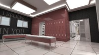 Locker Room With Bathroom