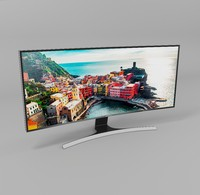 samsung curved led 3d model