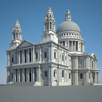 london saint paul cathedral 3d max