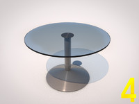 3d model table glass