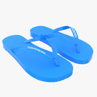 3d model of havaianas sandals