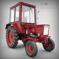 tractor t 3d max
