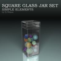 3d max glass jars