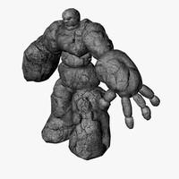 stone golem 3d 3ds