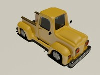 cartoon pickup truck 3d model
