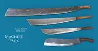 machete pack 3d model