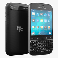 blackberry classic 3d model