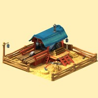 3d max cartoon sawmill