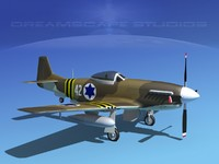 cockpit force p-51-d 3d model
