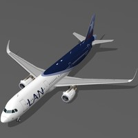 sharkleted a321neo lan airlines 3d max
